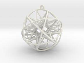 """Super Penta Sphere 2"""" Pendant in White Natural Versatile Plastic"""