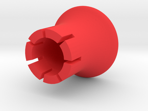 Thermoplan valve spring pusher in Red Processed Versatile Plastic