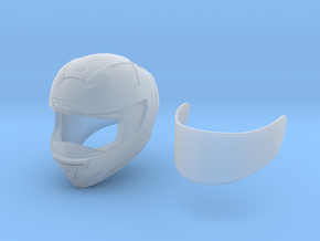 Type Sh motorcycle helmet in Smooth Fine Detail Plastic