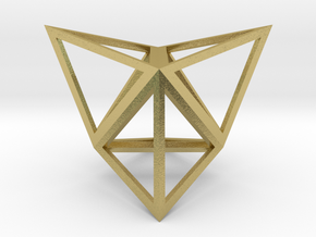 """Stellated Tetrahedron 1"""" in Natural Brass"""