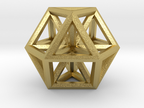 "Large Vector Equilibrium 1.5"" in Natural Brass"