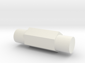 Variable pressure Breech pin in White Natural Versatile Plastic