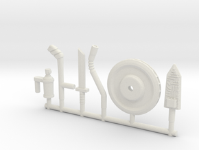 BotBots Weapons Pack (Multisize) in White Natural Versatile Plastic: Extra Small
