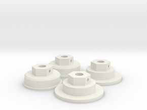 Tamiya Bruiser / HG P407 12mm Hex Adapter complete in White Natural Versatile Plastic