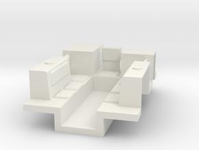7201 • M9A1 Half-track Body in White Natural Versatile Plastic