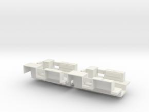 7201A • 2×M9A1 Half-track Body in White Natural Versatile Plastic