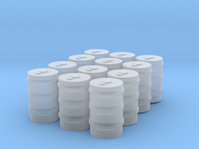 12 55 gallon drums in Smooth Fine Detail Plastic: 1:300