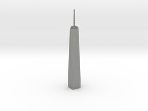 One World Trade Center - New York (6 inch) in Gray PA12