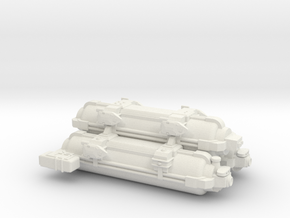 Omni Scale WYN Auxiliary Battle Control Ship SRZ in White Natural Versatile Plastic