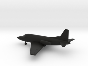 North American Sabreliner 40 (NA282) in Black Natural Versatile Plastic: 1:200
