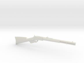1:12 Miniature Winchester 1873 Rifle in White Natural Versatile Plastic: 1:12