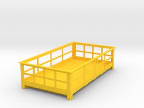 FRB13 Festiniog Railway 3 Ton Slate Wagon Body in Yellow Processed Versatile Plastic