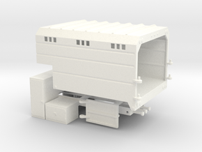 1/64th Chipper Truck L Toolbox Dump Box  in White Processed Versatile Plastic
