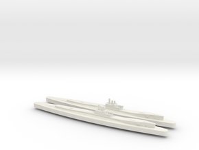 HMS Clyde X2 (Thames/River Class) 1/1800 in White Natural Versatile Plastic