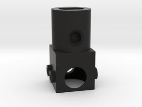 Vertical Motor Block in Black Natural Versatile Plastic