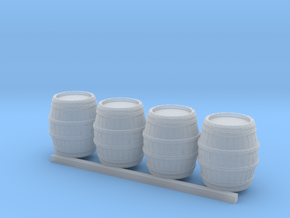N-Scale medium barrel with 6 rings in Smooth Fine Detail Plastic