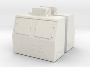 Ice Machine 01. HO Scale (1:87) in White Natural Versatile Plastic