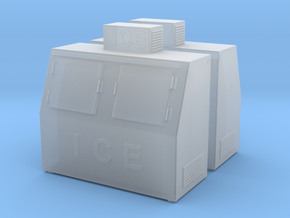 Ice Machine 01. HO Scale (1:87) in Smooth Fine Detail Plastic