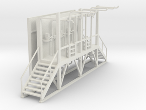 'HO Scale' - Truck Filling Station in White Natural Versatile Plastic