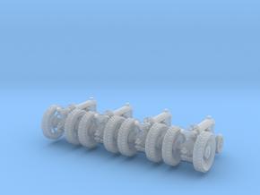 4 farm tractors rev. Z scale in Smooth Fine Detail Plastic