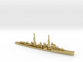 HMS Delhi (masts) 1:2400 WW2 naval cruiser in Natural Brass