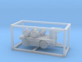 E-Karren Flachwagen 4x E-Motoren A - 1:120 TT in Smooth Fine Detail Plastic