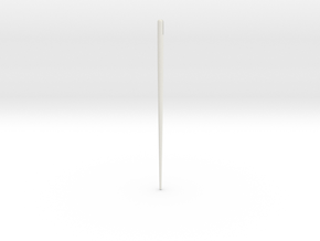 Composite Arrow Fore-shaft in White Natural Versatile Plastic