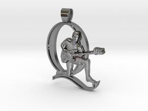 John Deacon, Bassist [pendant] in Polished Silver