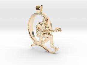John Deacon, Bassist [pendant] in 14k Gold Plated Brass