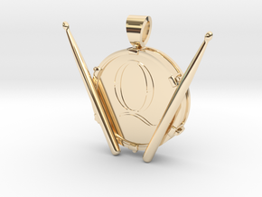 Roger Taylor [pendant] in 14k Gold Plated Brass