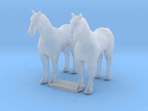 TT Scale Draft Horses in Smooth Fine Detail Plastic