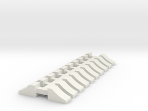 Wheel Chock - 10 sets 1-50 Scale in White Natural Versatile Plastic