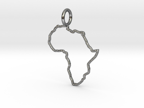 Afrika with Kaps crust in Polished Silver