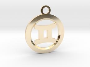 Gemini in 14k Gold Plated Brass