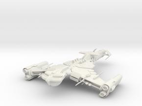 Klingon Mjolnir Class  BattleCuiser in White Natural Versatile Plastic