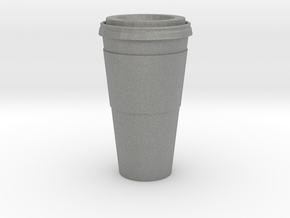 1/12 Scale Paper Coffee Cup in Gray PA12