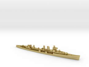 HMS Colombo 1:3000 WW2 naval cruiser in Natural Brass