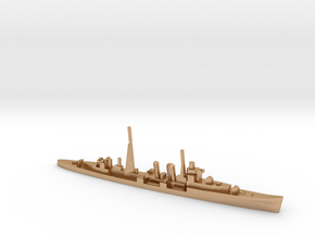 HMS Colombo (masts) 1:1800 WW2 naval cruiser in Natural Bronze