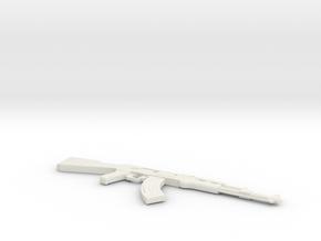 1:6 Miniature AK-47 Gun in White Natural Versatile Plastic