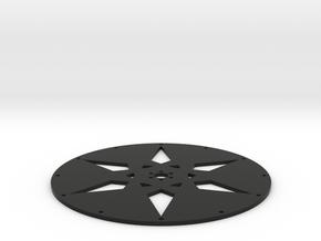 Super Wheel Face Arrow in Black Natural Versatile Plastic