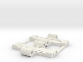 Losi Base Plate with upgrade x2 in White Natural Versatile Plastic