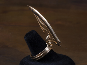 Blade Ring in Natural Bronze: 8 / 56.75