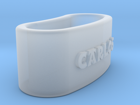 CARLOS Napkin Ring with lauburu in Smooth Fine Detail Plastic