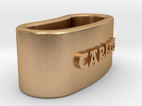 CARLOS Napkin Ring with lauburu in Natural Bronze