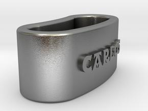 CARLOS Napkin Ring with lauburu in Natural Silver