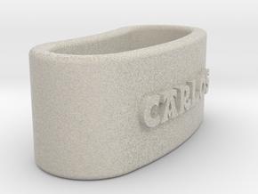 CARLOS Napkin Ring with lauburu in Natural Sandstone