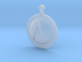 Spartan Shield Pendant in Smoothest Fine Detail Plastic