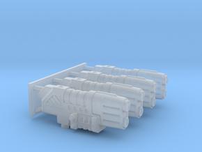 4x High Detail Plasma guns in Smooth Fine Detail Plastic