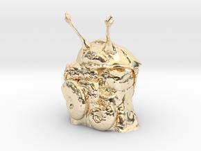 Stalk Eyed Asaphus Kowalewskii in 14k Gold Plated Brass