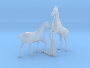 S  Scale Horses 4 in Smooth Fine Detail Plastic